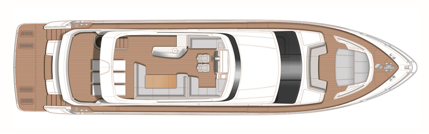 Princess Y78 Flybridge Deck