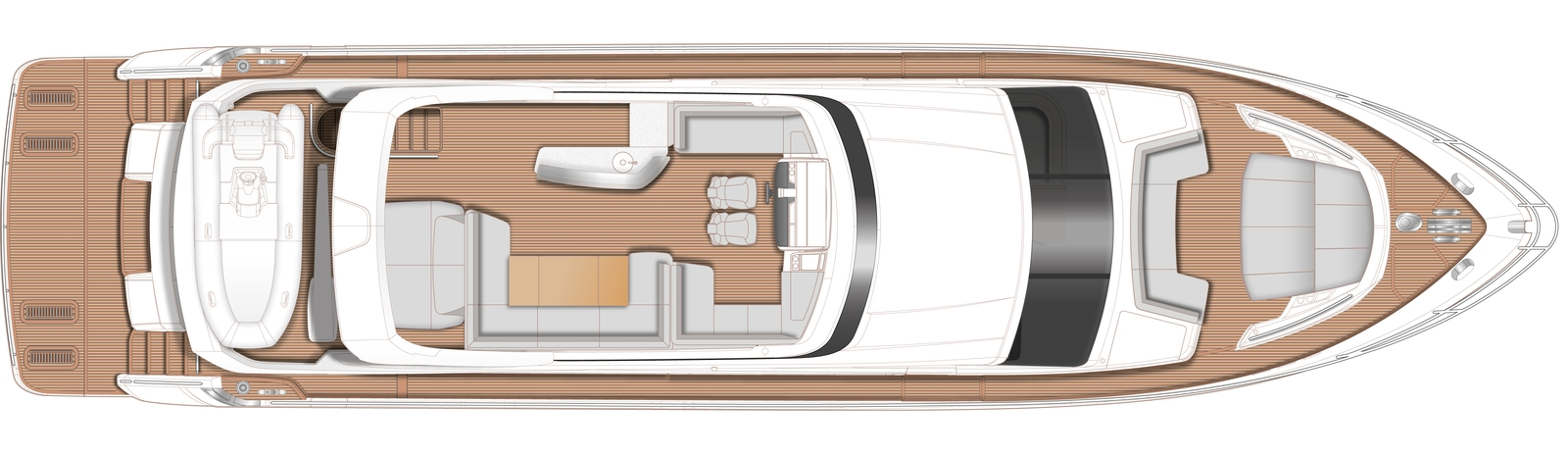 Princess Y78 Flybridge Deck (Optional)