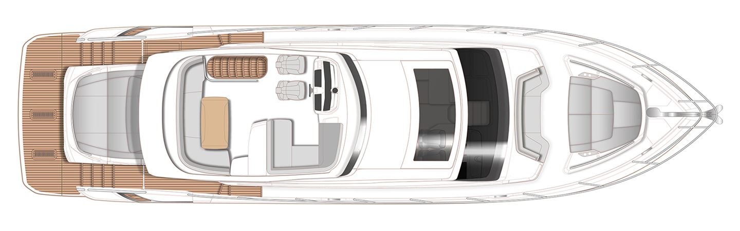 Princess S62 Sportbridge Deck