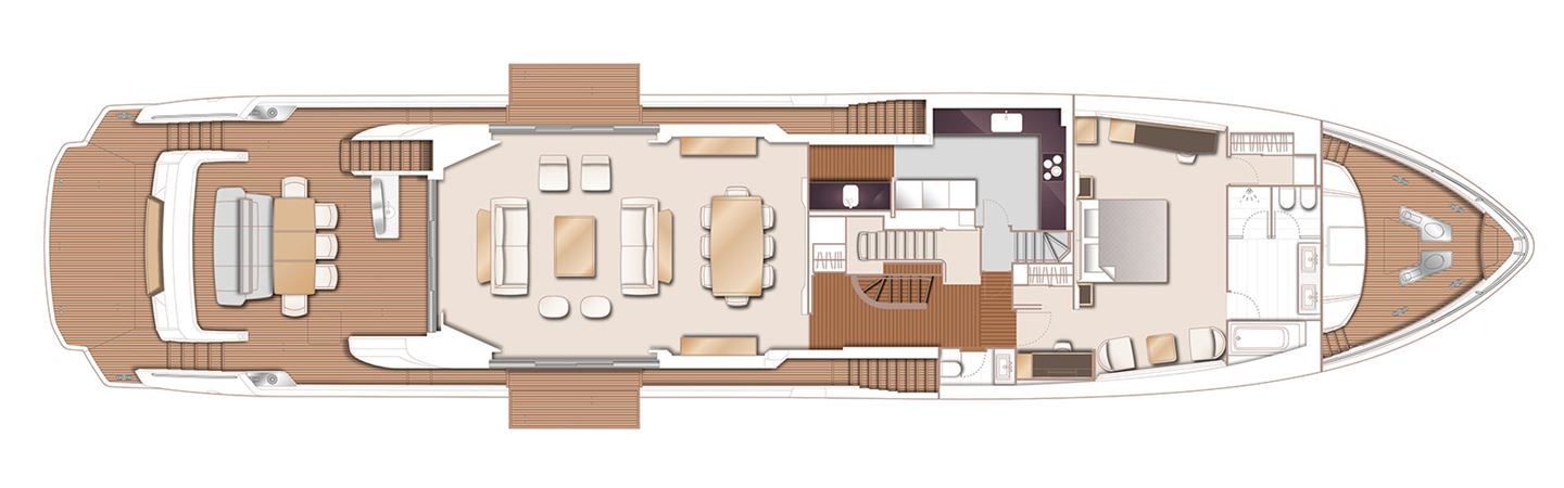 Princess 35M Main Deck